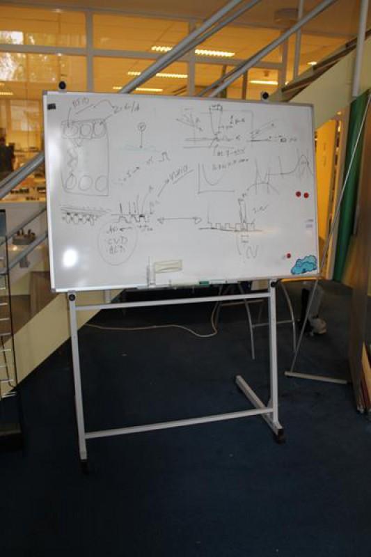 verrijdbaar whiteboard met afmeting 120 x 90 cm hnvi. Black Bedroom Furniture Sets. Home Design Ideas